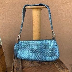Elliot Lucas Basket Woven Leather Shoulder Bag